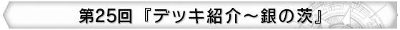 第25回 『デッキ紹介~銀の茨』