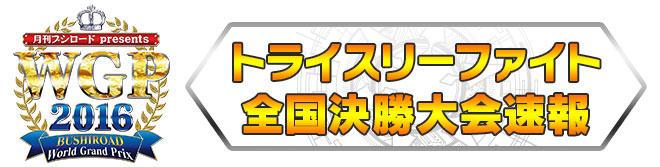 WGP2016 トライスリーファイト全国決勝大会速報